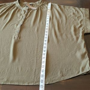 J. Crew Tops - J. Crew Point Sur army green pop over top